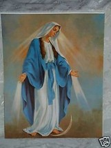 "Catholic Print Picture Mary Our Lady Grace 11x14"" ready to be framed - $14.95"