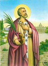 Catholic Print Picture SAINT St. PETER Apostle 1st Pope - ready to be fr... - $14.01