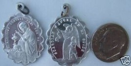 Vintage Catholic Medal St. ALOYSIUS Guardian Angel - ornate detail aluminum - $9.49