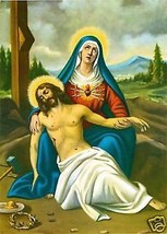 Catholic Print Picture PIETA Sorrowful Mary w/ Jesus - ready to be framed - $14.01