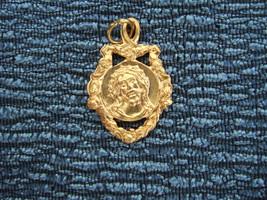 Catholic Medal  ECCE HOMO Sorrowful Jesus ornate Gold finish 23mm from Italy - $11.29