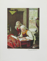 """Norman Rockwell """"Ye Olde Print Shoppe"""" 1973 - S/N Lithograph - Retail $4... - $2,450.00"""