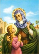 Catholic Print Picture St. ANNE Virgin Mary ready to be framed - $14.01