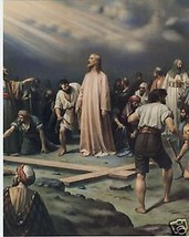 Catholic Print Picture CALVARY Jesus before Crucifixion - ready to frame - $14.01