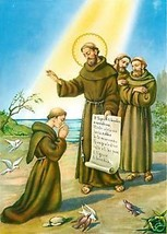 Catholic Print Picture BLESSING OF SAINT FRANCIS ASSISI - ready to frame - $14.01