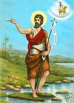 Catholic Print Picture ST. JOHN the BAPTIST as an Adult - ready to be fr... - $14.01