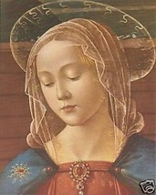 Catholic Print Picture Blessed Virgin Mary Ghirlandaio - ready to be framed - $14.01