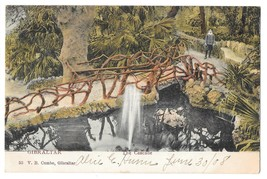 British Gibraltar Cascade Waterfall Bridge Path Vintage 1908 V B Cumbo P... - $4.99