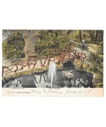 British Gibraltar Cascade Waterfall Bridge Path Vintage 1908 V B Cumbo P... - $4.99
