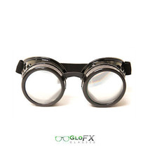 GloFX Black Diffraction Goggles High Quality Hard Coated Black Polymer Optics - $31.99