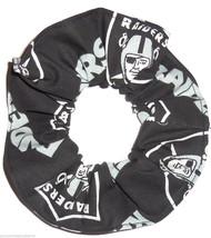 Oakland Raiders Black Fabric Hair Scrunchie Scrunchies by Sherry Ponytail NFL - $6.99