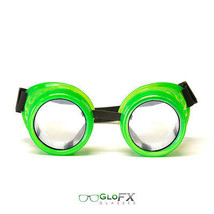 GloFX Glow Green Diffraction Goggles Exterior Glass Lens for Protection Goggles  - $31.99
