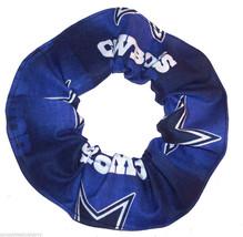 Dallas Cowboys Navy Blue Glow Fabric Hair Scrunchie Scrunchies by Sherry... - $6.99