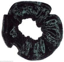 Forest Green Panne Velvet Hair Scrunchie Scrunchies by Sherry Ponytail Holder - $6.99
