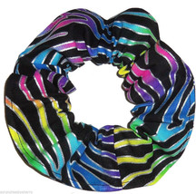 Rainbow Zebra Metallic Hair Scrunchie Scrunchies by Sherry Ponytail Holder - $6.99