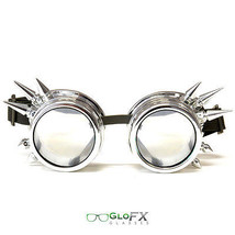 GloFX Chrome Spike Diffraction Goggles Adjustable Elastic Band Stylish Design - $31.99
