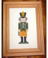 New Christmas Nutcracker Framed Picture Finished Cross Stitch Handmade G... - $36.59