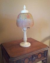 Antique 1920s Art Nouveau Boudoir Lamp with Rev... - $125.00