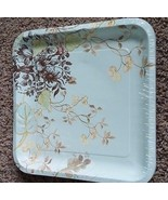 Packs of 8 square Meadow Sweet paper plates, dinner OR dessert/salad - $2.49+