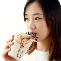 Homee Life like 3D Cartoon Hand-Painted Wild Animal Ceramic Mugs Novelty... - £14.12 GBP