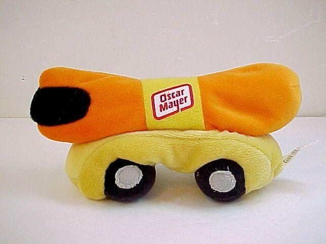 Primary image for Vintage Plush Oscar Mayer Hot Dog Wiener Mobile Bean Bag Toy-7""