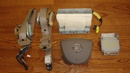 2005 NISSAN MAXIMA OEM Taupe Airbags Set w/Front Seatbelts Module #988207Y100 - $269.99