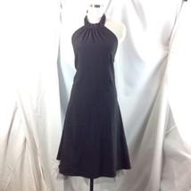 Black Gold Pinstripe Choker Halter Dress Crinoline Petticoat Slip Plus 18 - $38.61