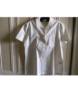 MONDI FASHION WOMEN'S WHITE SHORT-SLEEVE POLO SHIRT TOP - SIZE 38 - $29.99