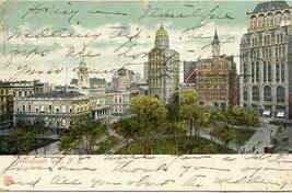 Newspaper Row New York City vintage 1906 Post Card - $5.00