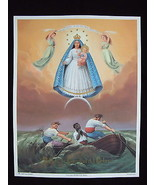 "Catholic Print Picture LARGE Caridad del Cobre MARY OL Charity 13x17"" fr... - $21.49"