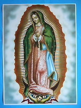 """Catholic Print Picture OUR LADY OF GUADALUPE Virgin Mary large 20x28"""" Po... - $28.04"""