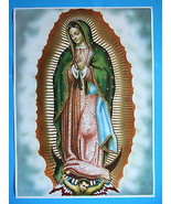 "Catholic Print Picture OUR LADY OF GUADALUPE Virgin Mary large 20x28"" Po... - $28.04"