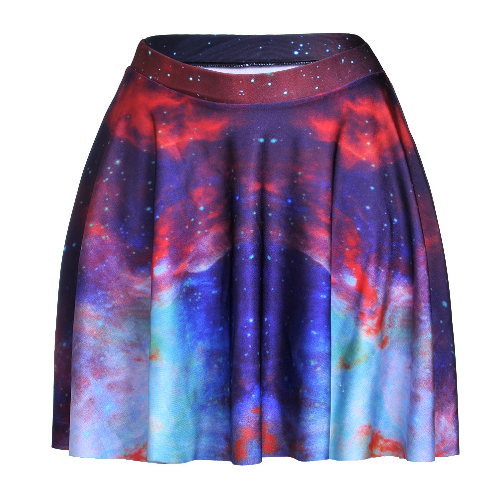 green galaxy space pinup skirt clothes skater