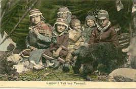 Children of Lapland Vintage Photo Post Card - $6.00