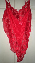 Lingerie - Size 1X -Teddy -Cinema Exolie Seductive Wear - Color Red Teddy - $30.00