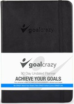 Goal Crazy 2019 Planner - 90 Day Productivity Journal, Black Leather, Un... - $25.69