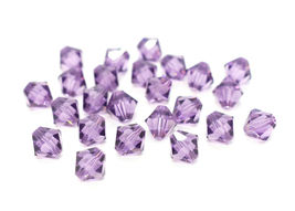 25pcs 3mm SWAROVSKI CRYSTAL FACETED BICONE BEADS - You Choose the Color image 13