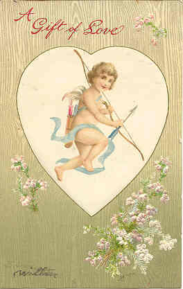Primary image for a Gift of Love a Cupid Valentine Vintage Post Card