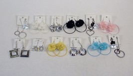 Fashion Jewelry Earrings ~ 12 Pairs, Assorted C... - $9.75