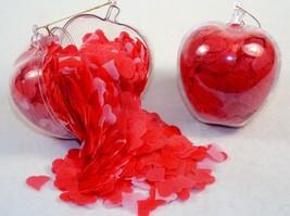 Bath Confetti In Apple-Shaped Acetate Ornament ~ Rose Scent, Heart-Shape... - $9.75