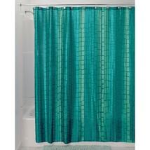 Aquamarine Blue Moxi Polyester Fabric Shower Cu... - $23.71