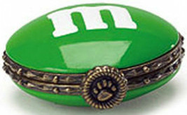 "Boyds Treasure Box ""Green M & M Hinged Box""  Licensed- New- 2005 - Retired - $22.99"