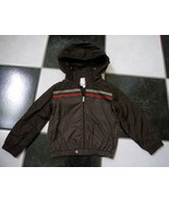 NWT 100% AUTH gucci boy Nylon diamante jacket in brown red/green/red web... - $380.00