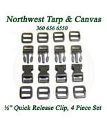 "Quick Release Clip ½"" Inch Acetal Plastic, 4 Pc. Set - $3.89"