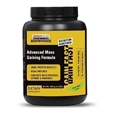 Magnus Nutrition Gain Fast, Green Apple Fusion 2.2 lb