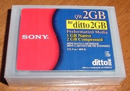 Sony QW2GB Ditto cartridge / tape - sealed - $7.00