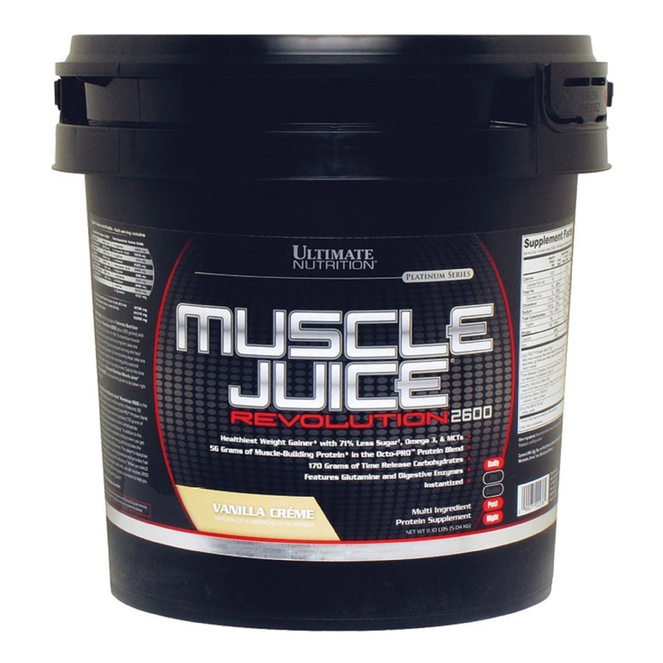 Ultimate nutrition muscle juice revolution 2600  vanilla creme 11.1 lb