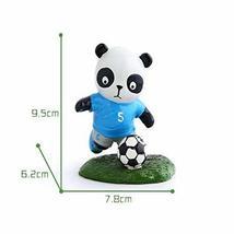 Panda Playing Football Mini Panda Puppet Home Decoration Kids' Gift(Italy)