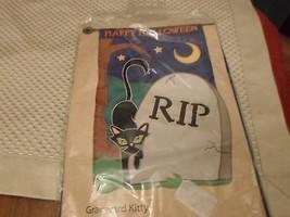 "Happy Halloween Graveyard Kitty Garden Flag 28"" X 44"" - €13,24 EUR"