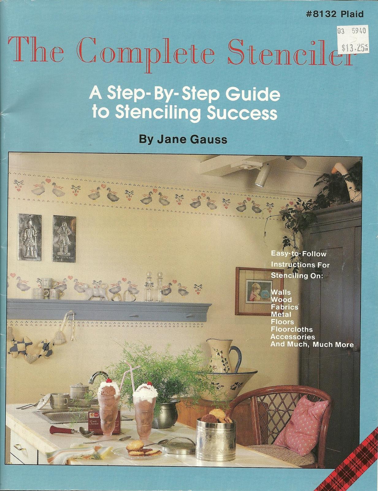 Complete stenciler book plaid 8132 jane gauss home decor crafts stenciling  1